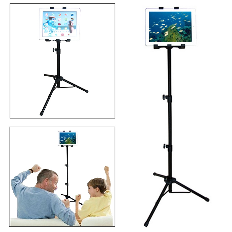 360 Adjustable Tablet Tripod Holder Mount Stand For iPad Universal Flexible 55cm - 125cm Tablet Stand Holder For Samsung 10.1 high quality abs self stick tripod mount stand holder tablet mount holder bracket clip accessories for 7 11 tablet for ipad