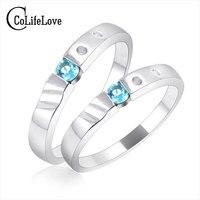 טבעת זוג כסף סטרלינג הקלאסי להדפיס שם 'חובבי טבעת 4*4 מ