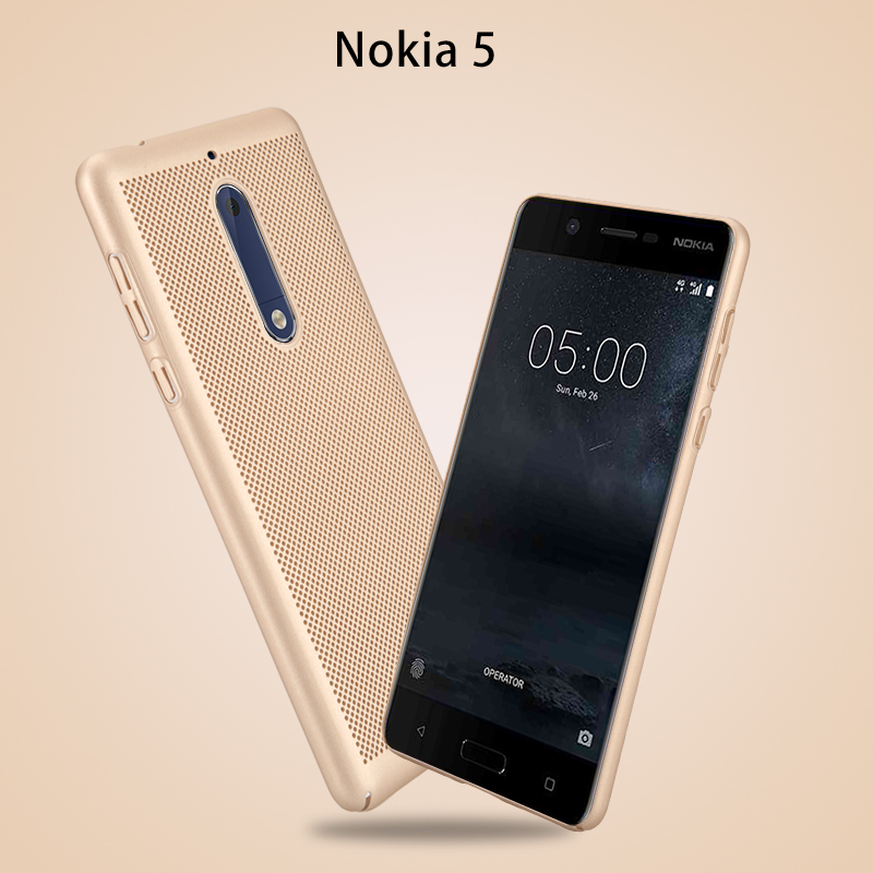 new style faa9d 79b2c US $3.79 5% OFF|Case For Nokia 5 Hard Plastic Light Weight Ultra Thin Slim  Shockproof Case For Nokia 5 Heat Radiation Back Cover Net Mesh Cases-in ...