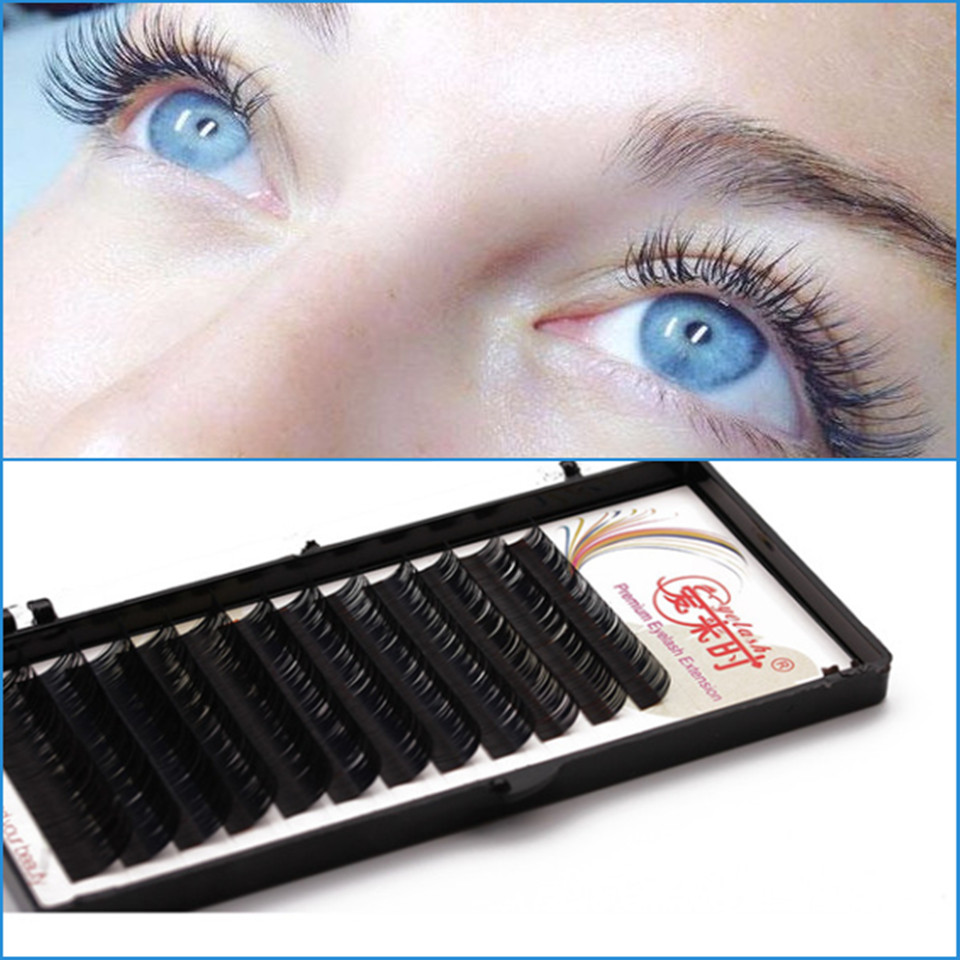 2018 Individual Silk Eyelash Extensions BCD Curl All Size False Fake Natural Soft Eyelashes Volume Silk Eye Lash Extension