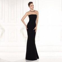 Weiche Satin O Neck Sleeveless Durchsichtig Zurück Perlen Vestido Dourado Kleid Partyabend Elegant