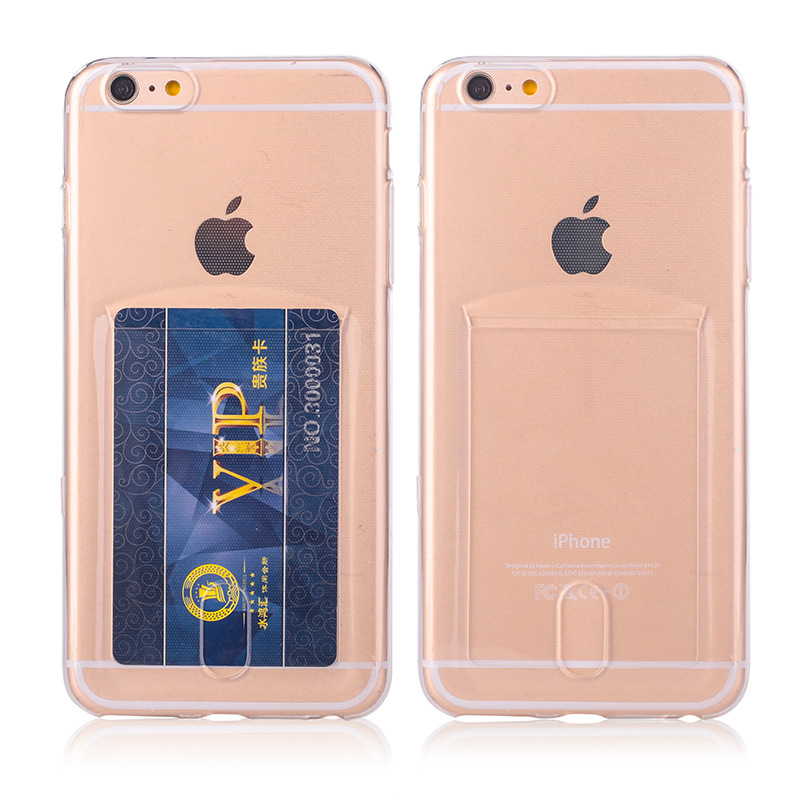 Transparent cases For iPhone 7 Case cover Ultra thin Clear TPU Phone Silicone Case for iphone 7 case 4.7 inch with Card Slot
