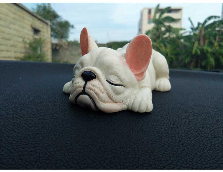 2018 Nova Bonito Dos Desenhos Animados Kawaii engraçado dormir Francês Bulldog estatueta Decoração Criativa figura Toy Kids Presente de Natal