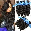 Peruvian Virgin Hair Loose Wave 4 Bundles Human Hair Weave Tissage Bresilienne Peruvian Loose Curly Extention Peerless Products