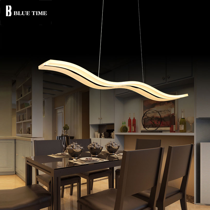 Acrylic Led Pendant Light For Home Kitchen Living Room Dining Room Lustres Led Pendant Lamp Indoor Lighting Fixtures L98cm 38W