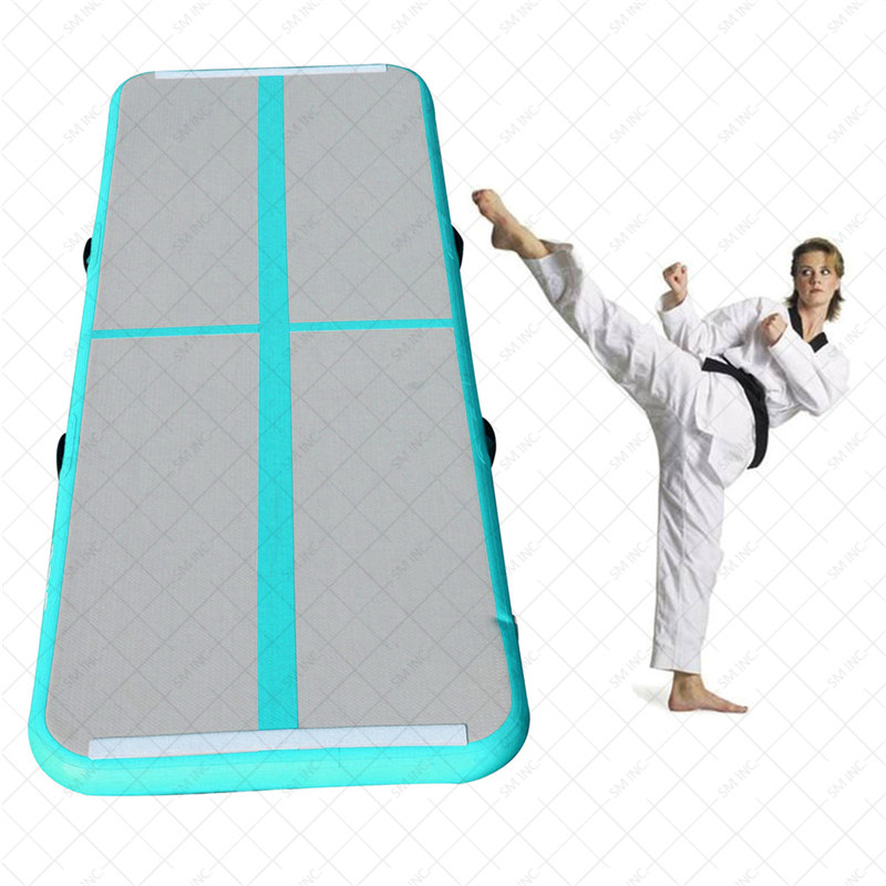 New Arrival Yoga Mats 0.9*3m Inflatable Tumble Track Trampoline Air Track Floor Home GYM Gymnastics Inflatable Air Tumbling Mat hot sale inflatable air tumble track gymnastics for sale