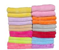 Freeshipping Pure Color Sofa Travel Blanket Winter Warm Soft Bedsheet Size 100 150cm