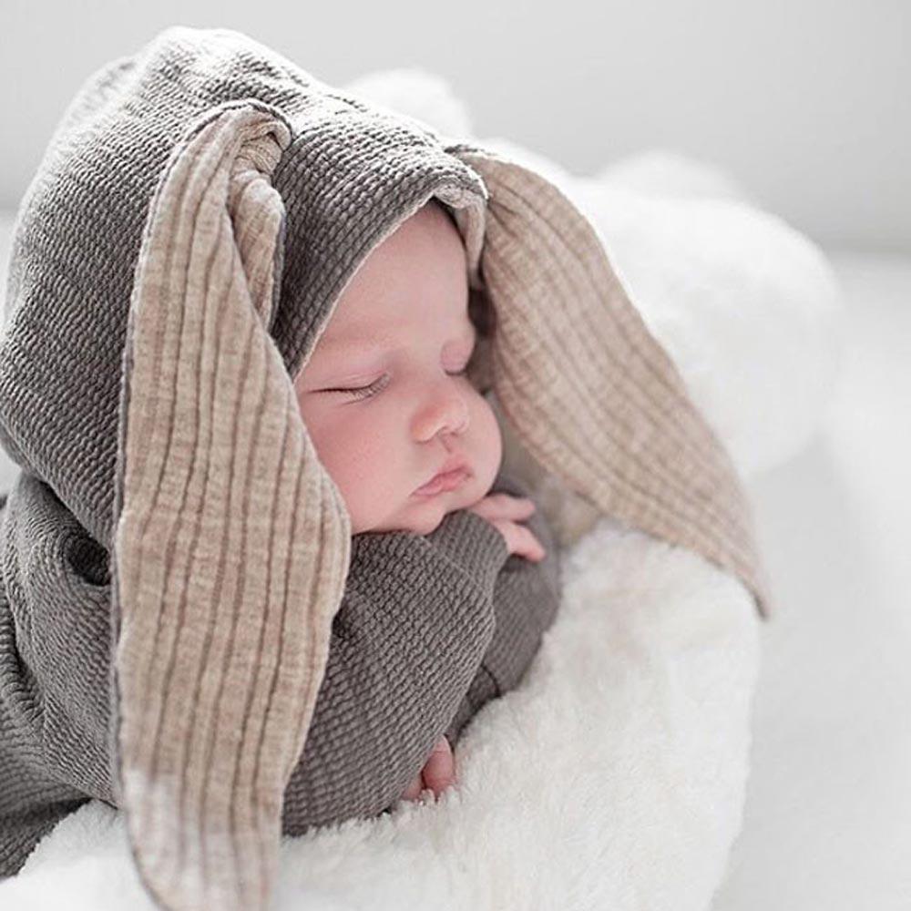 Cute Baby Bunny Ear Pajacyki Jesień Zima Niemowlę Cartoon Królik - Odzież dla niemowląt - Zdjęcie 3