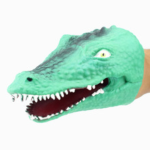 1Piece Green Soft TPR The Crocodile Head Hand Puppet Figure Gloves Toys Children Toy Model Gift