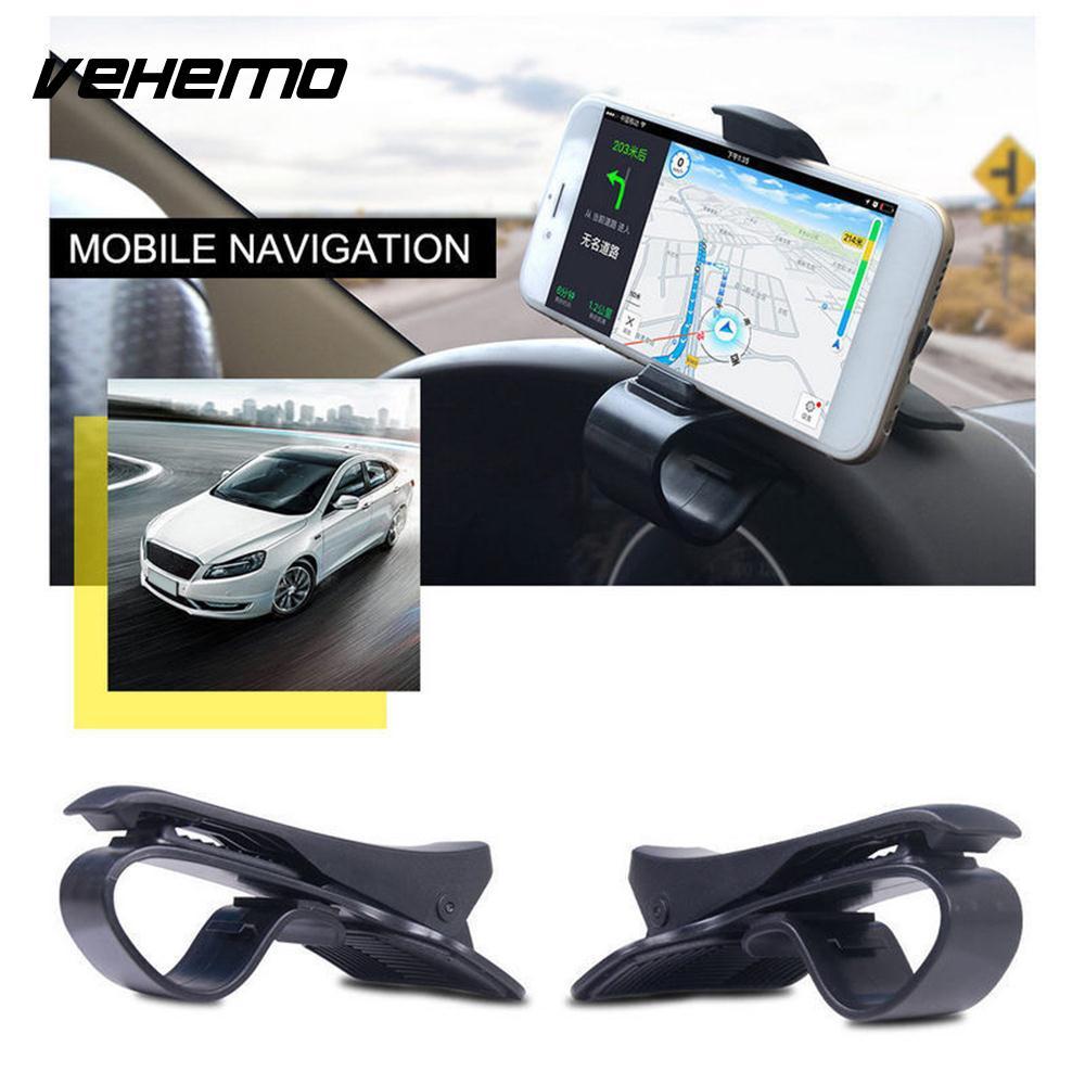 ABS Universal Facility GPS Mount Holder Car Dashboard Cradle HUD Design Navigation Phone Holder Car Interior Cell Phone