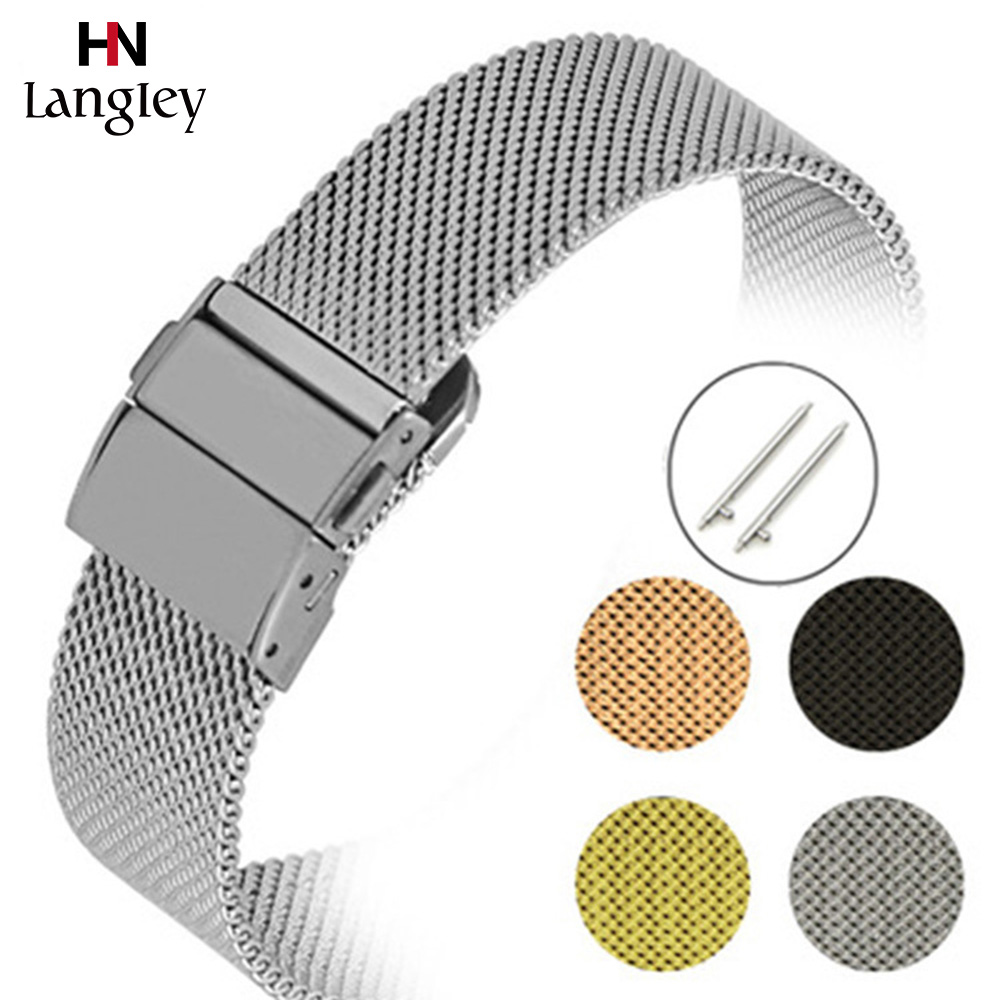 Milanese Stainless Steel Watchband For Wristwatch Straps 16mm 18mm 20mm 22mm Bands Watches Accessories