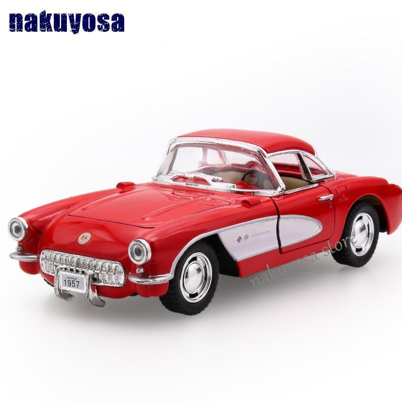 Chevrolet 1 34 classic car 1957 alloy pull back car model children s Educational gift toys
