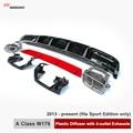A45 AMG Olhar W176 ABS Difusor & 4-Outlet dicas De Escape Inox aço Para Mercedes Classe W176 Sport Edition Apenas 2013-em