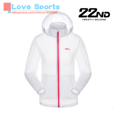 ФОТО  22ND Hooded Ultraviolet-proof Sunscreen Light Skin Coat Sport Cycling Wear For Women