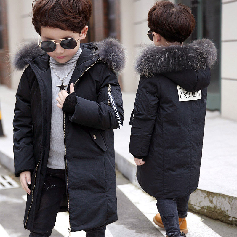 2017 Child Boy Hooded Jackets Russia Winter -20 Degree Warm Thicker Outerwear White Duck Down Coats Kids Boys School Clothing boy winter coats hot sales children clothing thickening hooded cotton jackets fashion warm baby boy coats clothes outerwear kids