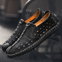 2018 Summer Luxury Brand Men Shoes Breathable Sneakers Casual Shoes Genuine Leather Moccasins Slip On Loafers Tenis Masculino