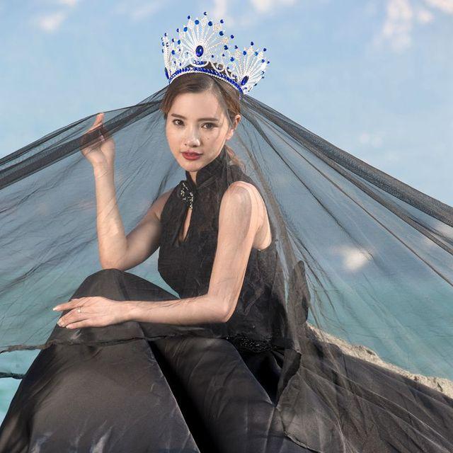 Nupcial Da Coroa Da Rainha Da Beleza Crown Princess Crown cheio de zircão grande coroa 1280