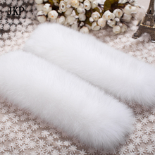 Fox fur Cuffs 2017 Genuine Fox Fur Cuff Arm Warmer Lady Bracelet Real Fur Wristband Glove
