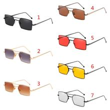 dfe9b8f1335 Rectangle Metal Small Frame UV400 Driving Unisex Sunglasses Eyewear Chic  Gentle