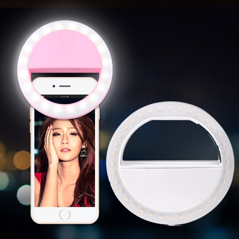 Selfie Ring Light Portable Flash LED Camera Phone Photography Enhancing Photography for Smartphone iPhone Samsung Xiaomi