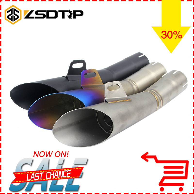 ZSDTRP Motorcycle Exhaust Pipe Case for Yamaha YZF-R6 YZF R6 Motorcycle Muffler Escape Moto For YZF R6 With Sticker