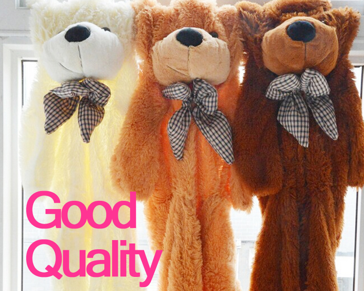 120cm,160cm,180cm,200cm big unfilled teddy bear skin Case Doll plush giant stuffed Animal toy birthday Pillow Valentine gift fancytrader new style teddt bear toy 51 130cm big giant stuffed plush cute teddy bear valentine s day gift 4 colors ft90548