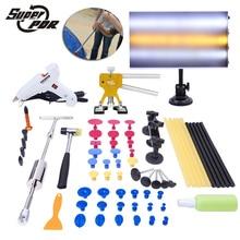 PDR tools dent repair tool kit Aluminum lamp board Slide Hammer Dent Puller glue gun 46pcs hand tools Dent Removal Tools