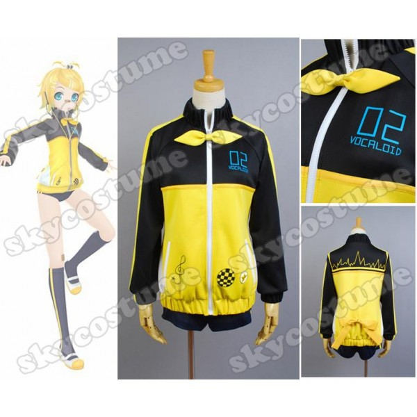 Vocaloid Hatsune Miku Project DIVA F RIN Cosplay Costume Full Set