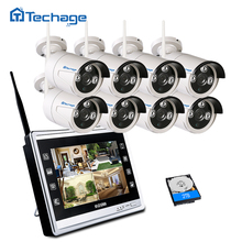 Techage Wireless Home Security Camera CCTV System 960P with 11.7″ LCD Monitor 8 Channel 1.3MP Screen Wifi CCTV Surveillance Kit