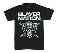 Slayer Nation Philly Philadelphia 2014 Show Black T Shirt New Official Band Tour