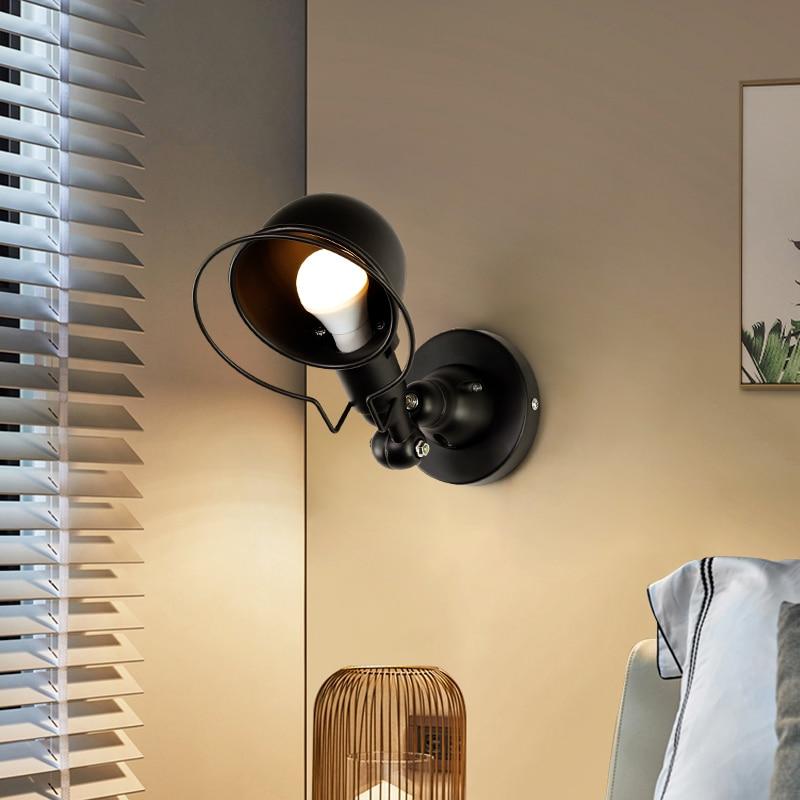 Nordic Classico regolabile industriale moderna Lungo altalena braccio nero lampada da parete sconce vintage E27 luci per Bagno camera da letto foyer - 5