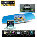 full hd1080p dual lens dvr night vision car camera rearview mirror auto cars dvrs dash cam recorder video registrator camcorder