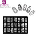 KADS Nail Art Stamping Stamp Image Plates Template for Manicure large Series nail stamping plates new arrival