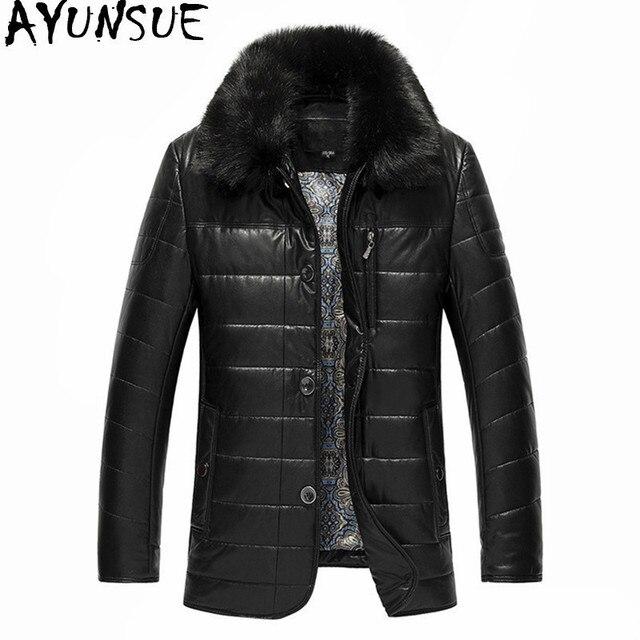 Aliexpress.com : Buy AYUNSUE Men's Winter Jacket Raccoon Fur ...