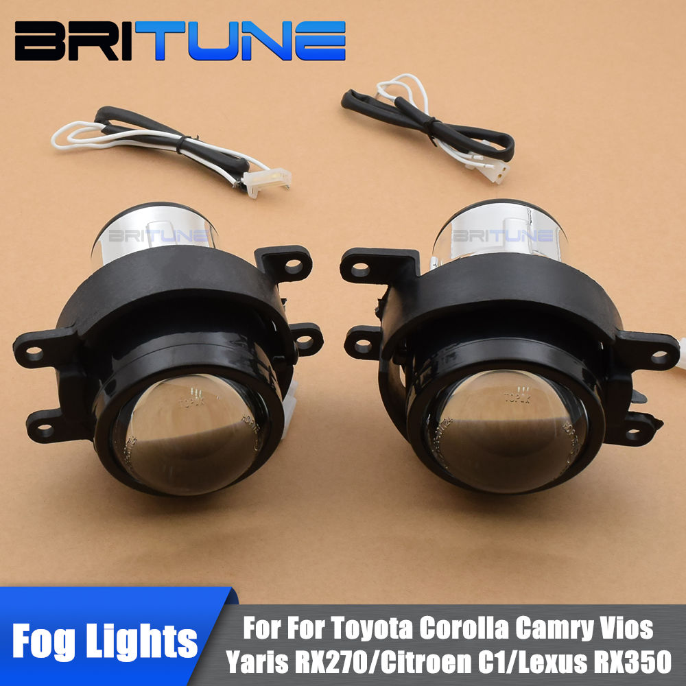 For Toyota Corolla Camry Yaris Vios RX270 HID Bixenon Fog Lights Projector Lens Bifocal Driving Lamps