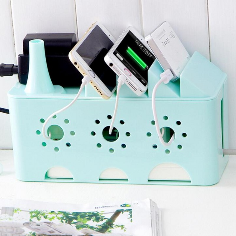 Power Strip Storage Boxes Organizer Cables Electric Wire Case Accessories SuppliesSafety Socket Outlet Board Container
