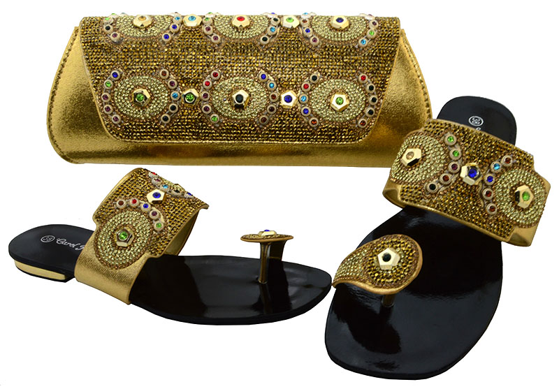 2017 New coming African sandals Italian shoes and bags to match shoes with bag set SIZE38-42 SBCH1-27 2017 new coming italian fashion black ab