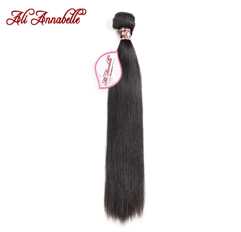 ALI ANNABELLE HAIR Malaysian Straight Human Hair Extension 1/3/4 Piece Natural Color 100% Remy Hair Bundles  10-28inch