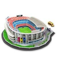 Barcelona Spain Football Model Camp Nou Paper Puzzle DIY Playmobil Toys Hobbies Puzzles Magic Cubes Toys For Children Christmas