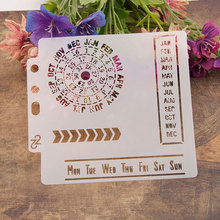 Clock Months Week Sticker Painting Stencils for Diy Scrapbooking Stamps Home Decor Paper Card Template Decoration Album Crafts cup coffee flower sticker painting stencils for diy scrapbooking stamps home decor paper card template decoration album crafts