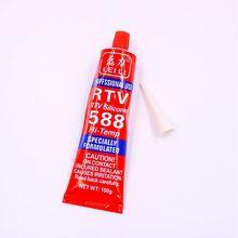 100g Strong adhesive glue high temperature sealant RTV red fastening glue for car Motor Gap seal repair tools все цены