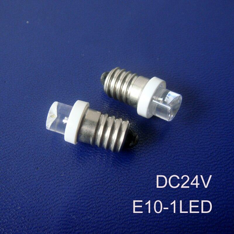 E10 24vdc Led Car Bulb 24vdc Led E10 Lamp,e10 Led Signal Lights Free Shipping 100pcs/lot High Quality E10 24v Truck Led Lights Light Bulbs