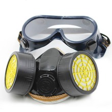 Anti-Dust/Anti-resident evil Mask Chemical Safety Painting Gas Air Filter Respirator With Goggles Industrial Safety Equipment
