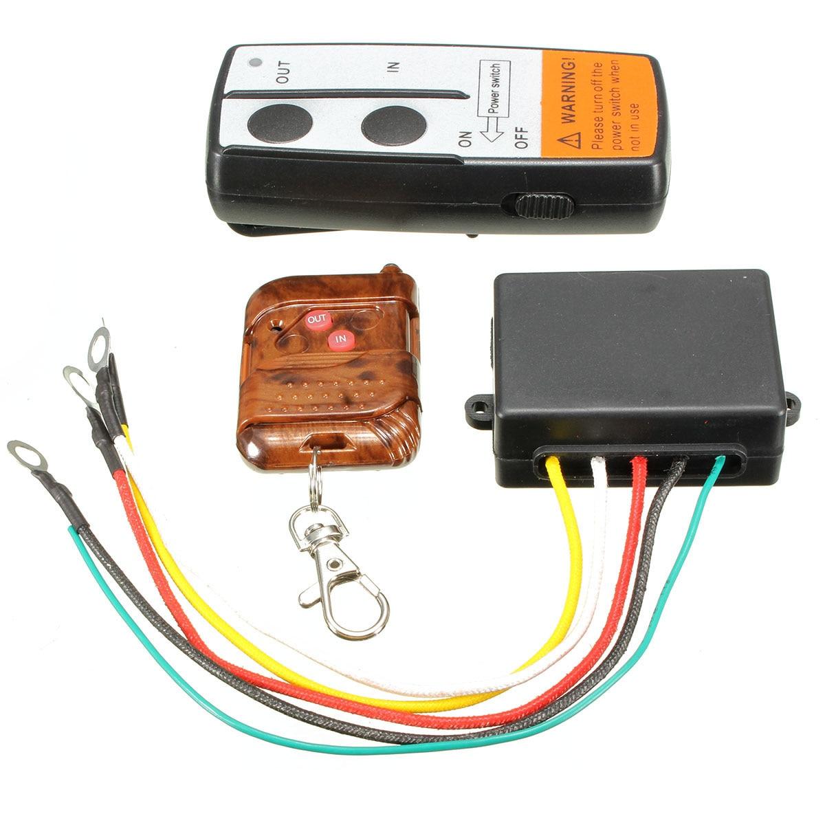 Electric Wireless Winch Remote Control Handset 12V Heavy Duty For Truck Atv SUV