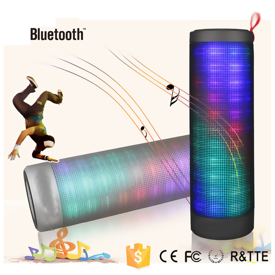 Music Angel Wireless Portable Bluetooth Speaker Colorful LED Lights For IOS Android Computer Surround Stereo Sound Sub-woofer  360 degree dc 5v usb surround stereo bluetooth speaker portable rechargeable wireless led lights sound speaker for smartphone
