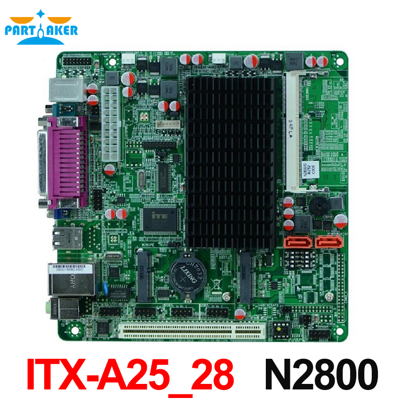 все цены на  MINI ITX industrial embedded motherboard ITX-A25_28 support Intel N2800/1.86GHz dual core processor with 8*USB/2*COM/1*VGA  онлайн
