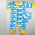 2 unids Conjunto Bebé Niño Chico Chica Ropa de Otoño Largo de La Manga Nube de algodón Caliente Infantil Del Bebé Del Mameluco Del Mono + Sombrero Ropa de Bebé Traje conjunto