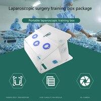 1 компл. лапароскопической хирургии Обучение Box посылка имитация хирургическое оборудование высокое качество инструмент тренер хирургичес