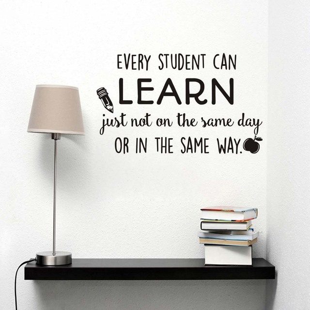 every student can learn wall stickers classroom encourage motto home