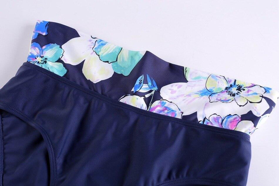 17 Women Print Plus Size Bikini Set Brazilian Push Up Sexy Swimwear High Waist Newest Swimsuit Female Big Size Bathing Suit 12